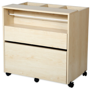 South Shore Crea Craft Storage Cabinet on Wheels - Transitional - Storage Cabinets - by South ...