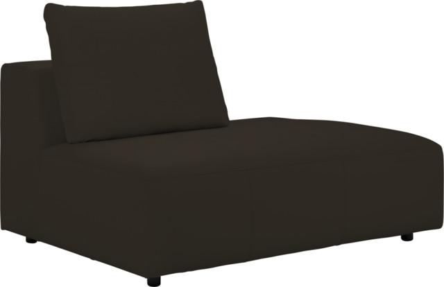 Ponta 1 Sitzer Sofa Ffnung Nach Rechts Aus Leder Braun Modern Sofas Von Habitat