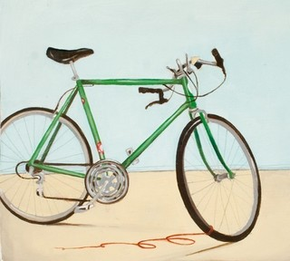 Bicycle Art Print Green Lightning By Michele Maule