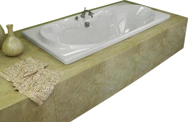 Atlantis tubs 4272w whisper 42x72x23 inch rectangular soaking bathtub