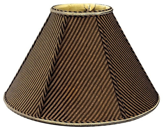 Round empire designer lampshade striped traditional lamp shades by royallampshades