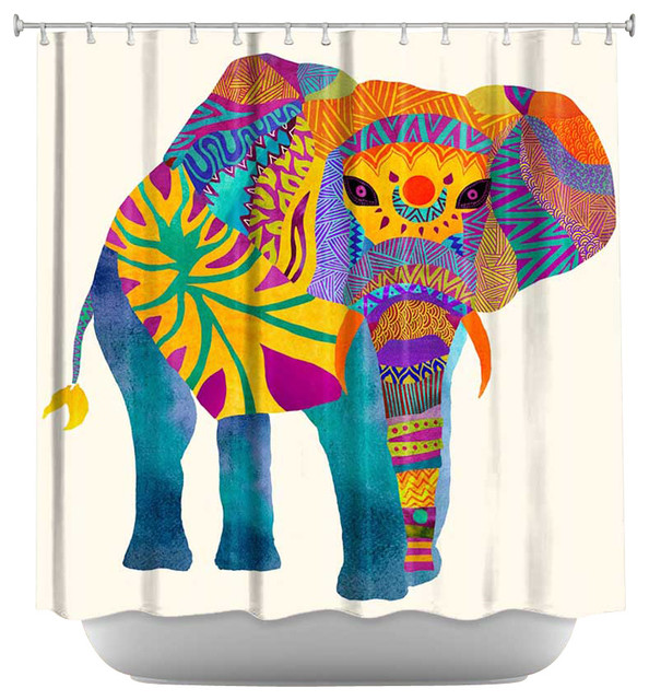 Shower Curtain Unique From Dianoche Designs Whimsical Elephant I Contemporary Shower Curtains