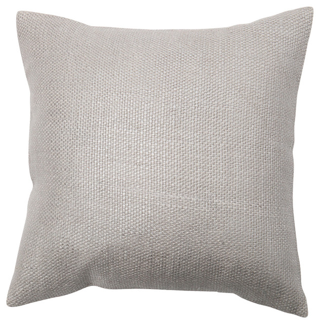 Modern Silver Pillows : Metallic Weave Pillow Cover, Silver - Modern - Decorative Pillows - by Best Home Fashion