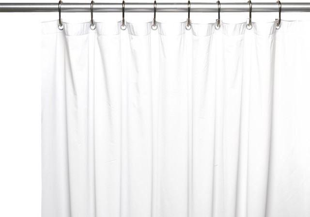 Hotel Quality Vinyl Shower Curtain White Traditional Shower Curtains By Linens4less