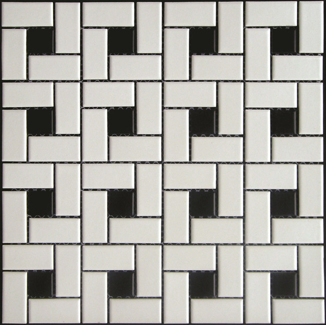 3x6 Neri White Glossy Flat Field Tile - Traditional ...