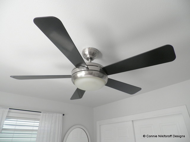 Restful Master Bedroom Modern Ceiling Fans Other By Connie Nikiforoff Designs