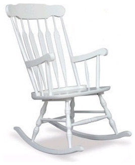 Adult Rocking Chair in White - Traditional - Rocking Chairs - by All ...