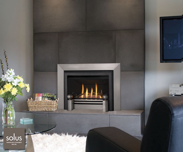 Valor legend g3 modern fireplace accessories by for Modern fireplace insert