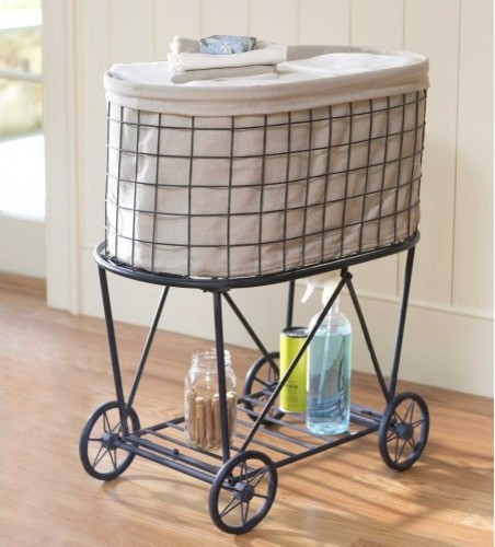 Wire Laundry Cart - Contemporary - Storage And Organization - by VivaTerra