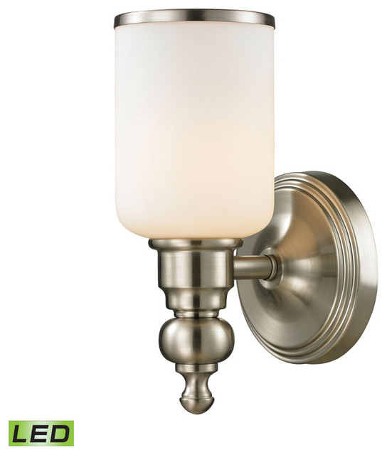 Bristol 1-Light Bath, Brushed Nickel, LED - Bathroom Vanity Lighting - by DirectSinks