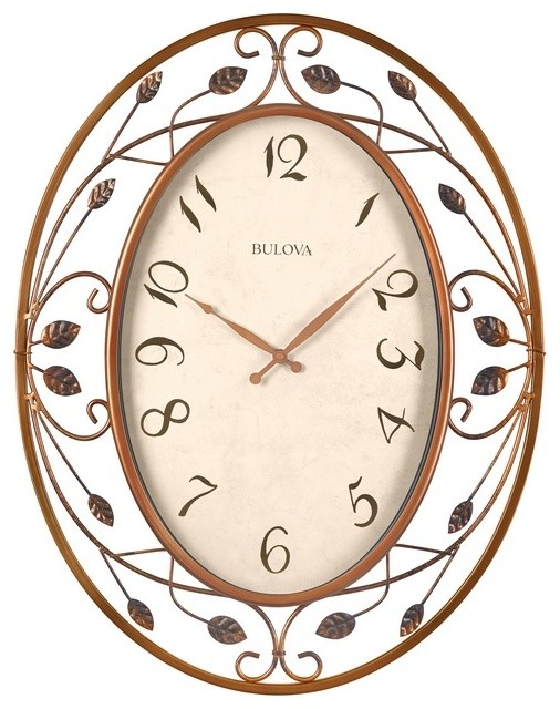 Laurel oversized 25 metal wall clock transitional Oversized metal wall clocks