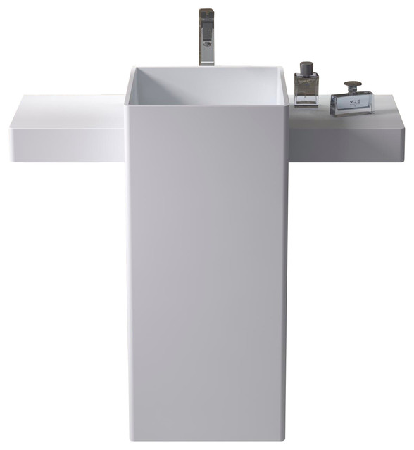 Standing Sink : Free Standing Solid Surface Stone Resin Sink - Modern - Bathroom Sinks ...