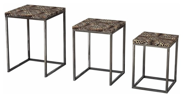 Sterling industries leopard print 13 inch square stacking for 46 inch square coffee table