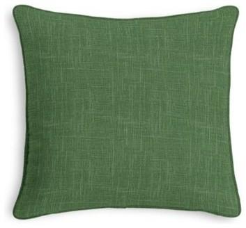 Dark Green Lightweight Linen Custom Throw Pillow - Contemporary - Decorative Pillows