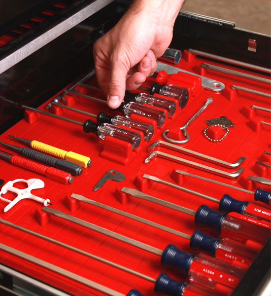 Tool Drawer Liner and Toolbox Organizer System - Garage ...