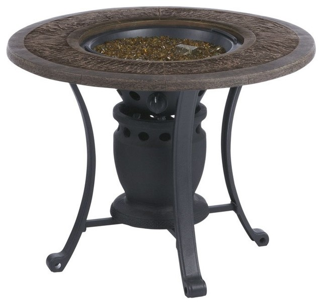Living Accents SRGF21203 Gas Fire Pit Table 28 12000 BTUs Tradition