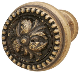 Hafele Brass Cabinet Knob - Traditional - Cabinet And Drawer Knobs
