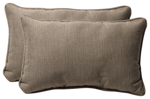 Monti Taupe Rectangle Throw Pillow, Set of 2 - Scandinavian - Outdoor Cushions And Pillows - by ...