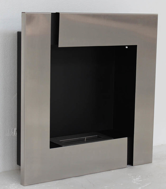Tokio modern recessed ventless ethanol fireplaces for Ventless fireplace modern