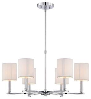 Kennedy Chandelier Six Light Transitional Chandeliers By Eurofase Lighting