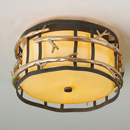 Twig Cage Flush Mount Ceiling Light Rustic Flush Mount