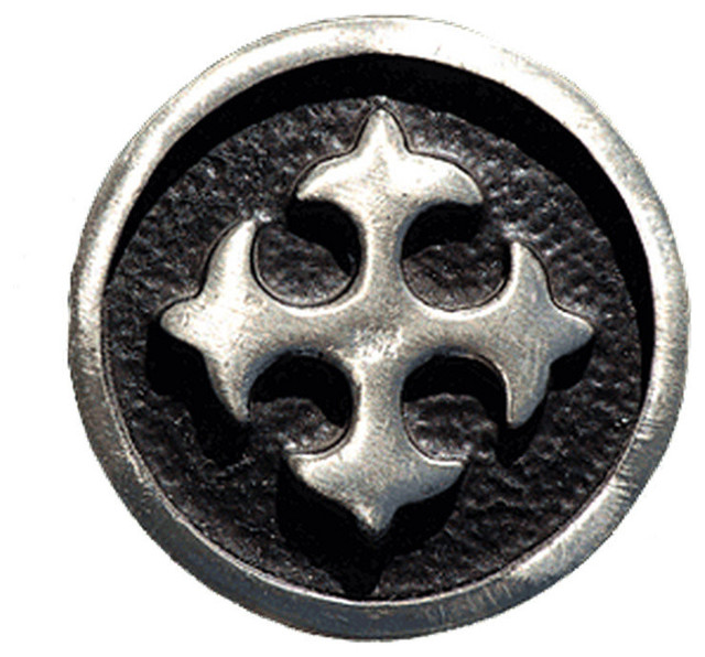 Oxidized Pewter Spanish Cross Cabinet Knob - Southwestern - Cabinet And Drawer Knobs - by ...
