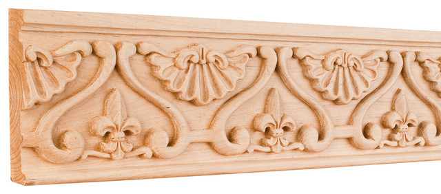 Hcm mp fleur de lis traditional hand carved mouldings in
