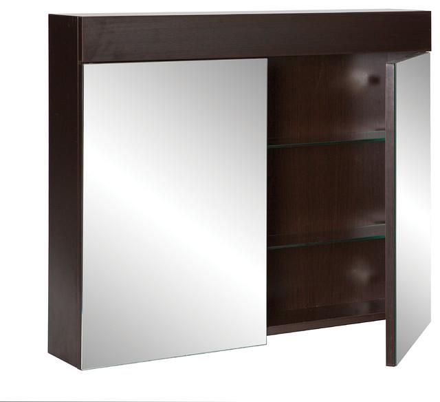 Stein bathoomware mirror cabinet oakridge wenge 750 for Bathroom cabinet 750