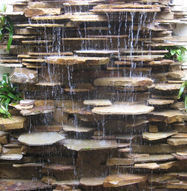 Water features and fountains contemporary landscape for Waterfall garden feature