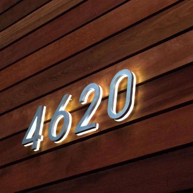 Backlit 8 house numbers illuminated outdoor luxello modern