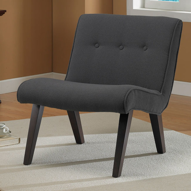 Armless Tufted Chair Steel Contemporary Living Room Chairs By Overstock