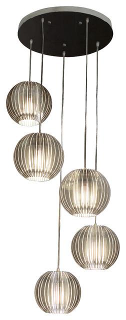 Phoenix 5 Light Pendant Modern Pendant Lighting By Inmod