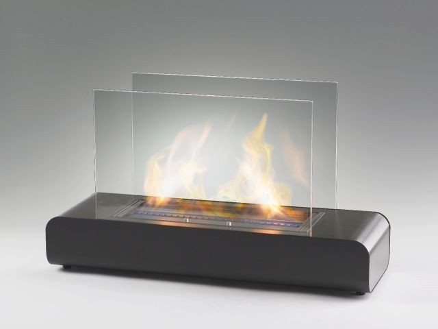 Eco Feu Blush Biofuel Fireplace Insert Contemporary Fireplace Accessories Portland By