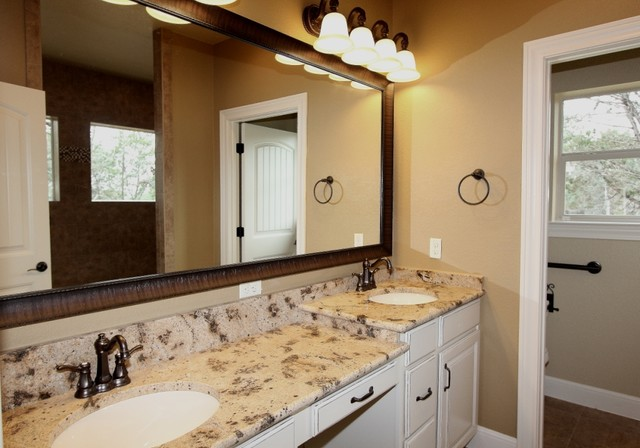 Country home river oaks community wimberley tx traditional bathroom