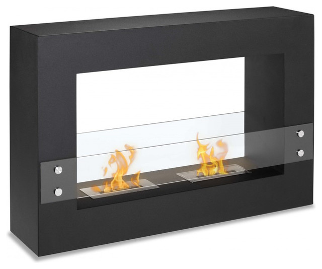 Ignis tectum freestanding ventless ethanol fireplace 47 for Contemporary ventless fireplace