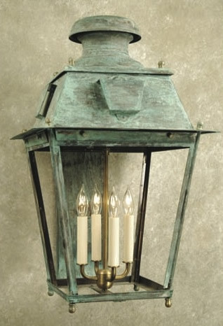 Exterior Wall Sconces Traditional : Ellis Square Hand-crafted Copper Wall Lantern - Traditional - Outdoor Wall Lights And Sconces ...