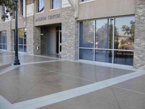 Commercial Concrete Sidewalk Lastiseal Concrete Stain