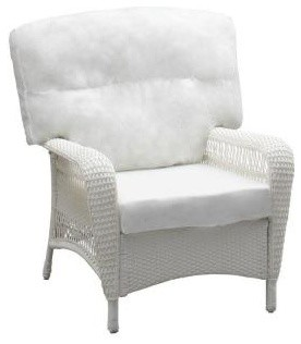 Martha Stewart Living Patio Furniture Charlottetown White All Weather Wicker Pa Contemporary
