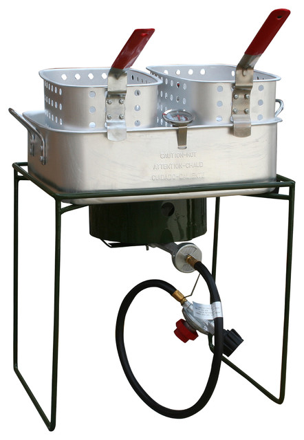 Sportsman series double basket outdoor cooker fryer with for Fish cooker burner