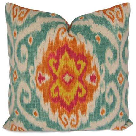 Eclectic Mix Of Pillows : Ikat Pillow Cover By Stitched Nestings - Eclectic - Decorative Pillows - by Etsy