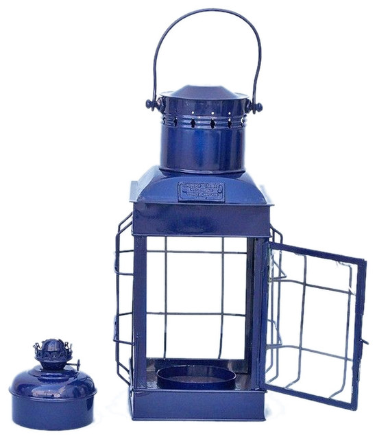 Iron Chief 39 S Oil Lamp 19 Blue Beach Style Outdoor Table Lamps