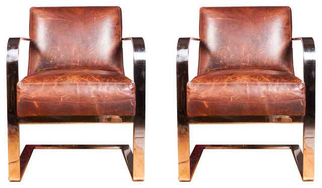 Pair of ralph lauren new bohemian modern club chairs for Pair of chairs for living room