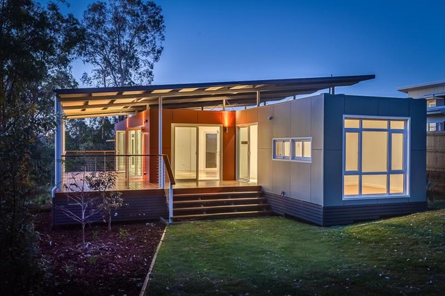 Valencia 3 bed 2 bath container home modern prefab studios brisbane by nova deko - Container homes queensland ...