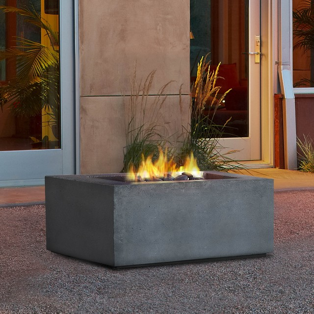 Real Flame Baltic Square Propane Fire Table Contemporary