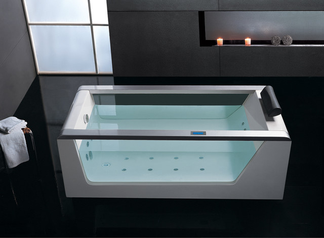 Ariel platinum am152jdtsz jacuzzi whirlpool modern for Jet tub bathroom designs