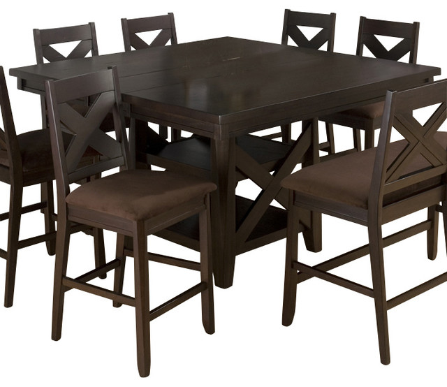 espresso butterfly leaf counter height table traditional dining tables