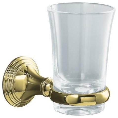 Kohler K 10561 Pb Devonshire Tumbler And Holder In Polished Brass Traditional Bathroom