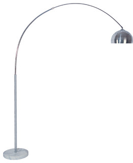 Skyler Adjustable 81 Arc Floor Lamp With Marble Base