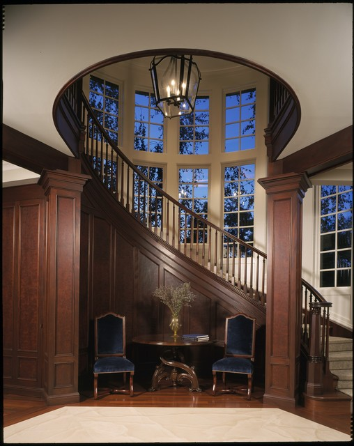 Houzz Foyer Stairs : Woodside traditional staircase san francisco by