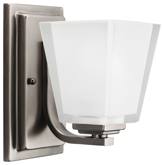 Houzz Bathroom Lighting Fixtures: Antique Pewter Wall Sconce 1-Light